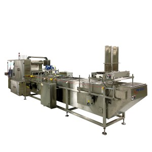 PB-1000 Inline, Intermittent Motion Pushbar Conveyor  cups and tray filling and sealing machine