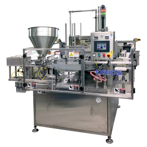 R-20 Rotary Vacuum Gas Flush Filling and Sealing machine for Cups, Tubs and Trays
