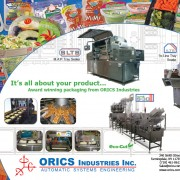 orics vegetable tray sealing machines